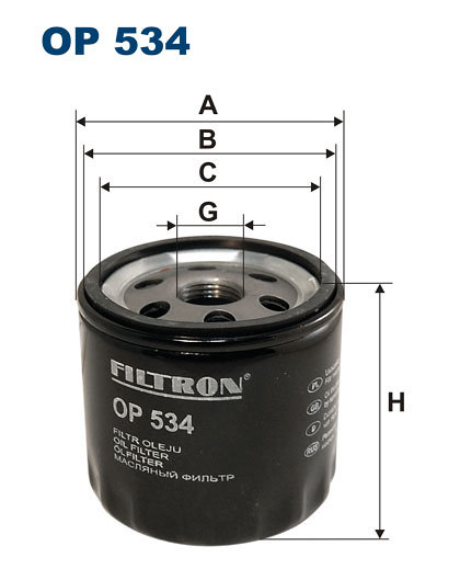 Filtr oleju FILTRON OP534 - darmowa dostawa do 5000 warsztatów Motointegrator Partner i 170 sklepów Inter Cars