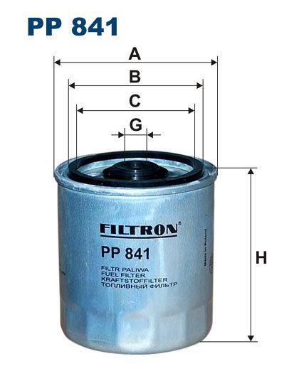 Filtr paliwa FILTRON PP841 - darmowa dostawa do 5000 warsztatów Motointegrator Partner i 170 sklepów Inter Cars
