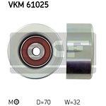 Rolka prowadząca pasek klinowy SKF VKM 61025