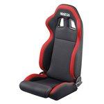 Fotel tuningowy SPARCO 00961BLKR Czerwono-czarny