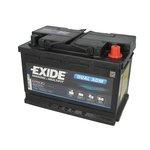 Akumulator EXIDE DUAL AGM EP600 - 70Ah 760A P+