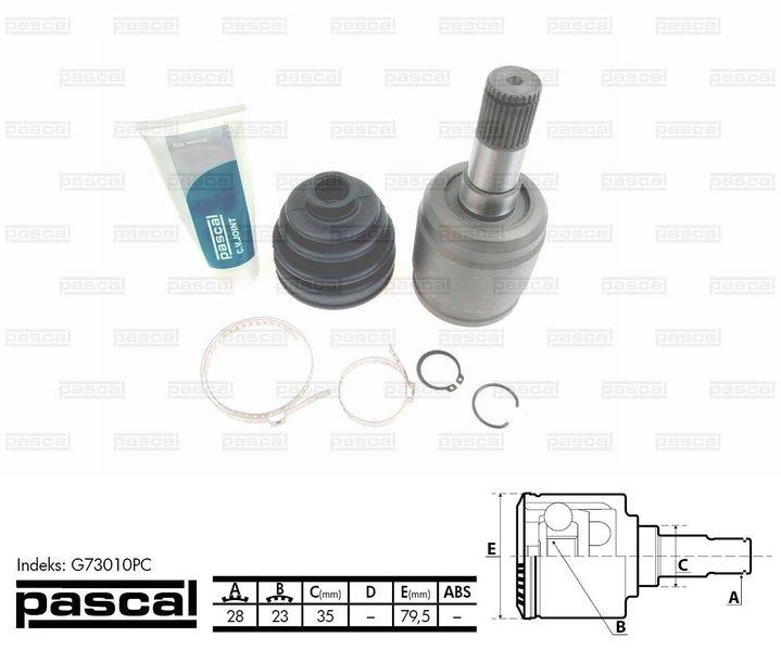 Przegub napędowy zewnętrzny PASCAL G73010PC - darmowa dostawa do 5000 warsztatów Motointegrator Partner i 170 sklepów Inter Cars