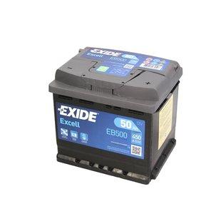 Akumulator EXIDE EXCELL EB500 - 50Ah 450A P+ - Montaż w cenie przy odbiorze w warsztacie!