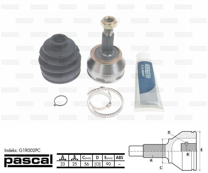 Przegub napędowy zewnętrzny PASCAL G1R002PC - darmowa dostawa do 5000 warsztatów Motointegrator Partner i 170 sklepów Inter Cars
