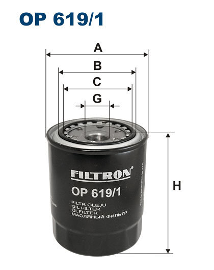 Filtr oleju FILTRON OP619/1 - darmowa dostawa do 5000 warsztatów Motointegrator Partner i 170 sklepów Inter Cars
