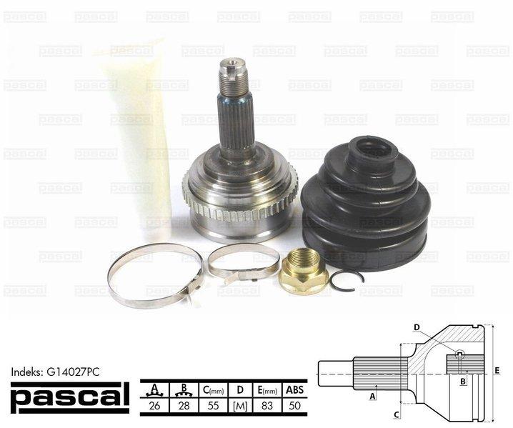 Przegub napędowy zewnętrzny PASCAL G14027PC - darmowa dostawa do 5000 warsztatów Motointegrator Partner i 170 sklepów Inter Cars