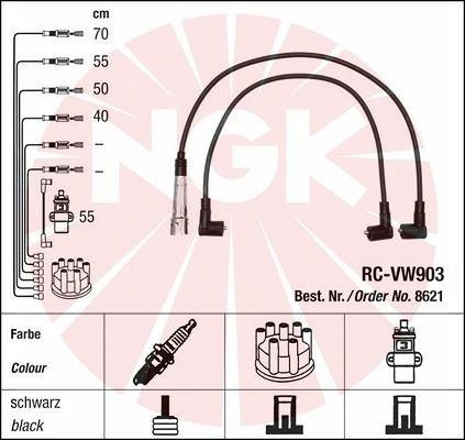 Zestaw przewodów zapłonowych NGK 8621