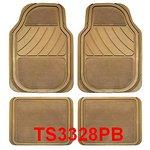 Uniwersalne przód:66x45, tył:35,5x45 dywaniki gumowo-welurowe beżowy POLGUM PGTS3328PB