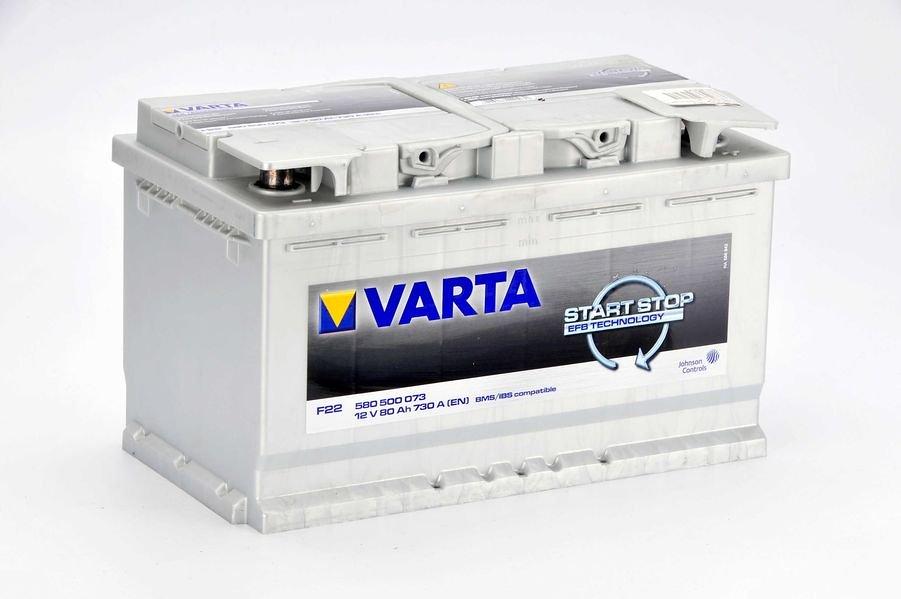Akumulator VARTA START STOP F22 - 80Ah 730A P+