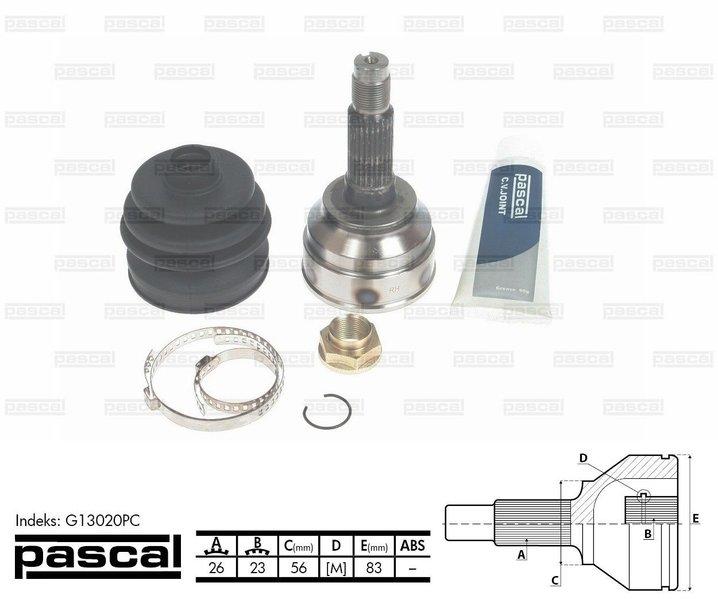 Przegub napędowy zewnętrzny PASCAL G13020PC - darmowa dostawa do 5000 warsztatów Motointegrator Partner i 170 sklepów Inter Cars
