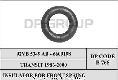 Podkładka sprężyny zawieszenia AKUSAN B 768