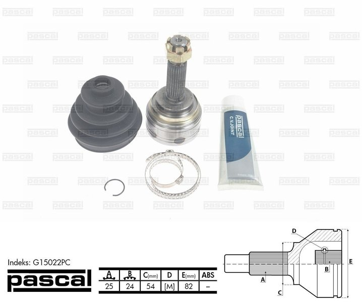 Przegub napędowy zewnętrzny PASCAL G15022PC - darmowa dostawa do 5000 warsztatów Motointegrator Partner i 170 sklepów Inter Cars