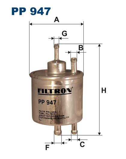 Filtr paliwa FILTRON PP947 - darmowa dostawa do 5000 warsztatów Motointegrator Partner i 170 sklepów Inter Cars
