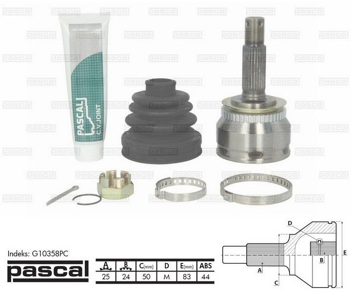 Przegub napędowy zewnętrzny PASCAL G10358PC - darmowa dostawa do 5000 warsztatów Motointegrator Partner i 170 sklepów Inter Cars