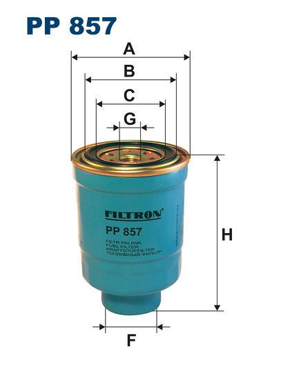 Filtr paliwa FILTRON PP857 - darmowa dostawa do 5000 warsztatów Motointegrator Partner i 170 sklepów Inter Cars