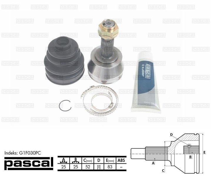 Przegub napędowy zewnętrzny PASCAL G1F030PC - darmowa dostawa do 5000 warsztatów Motointegrator Partner i 170 sklepów Inter Cars