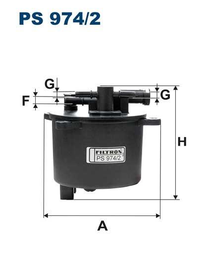 Filtr paliwa FILTRON PS974/2