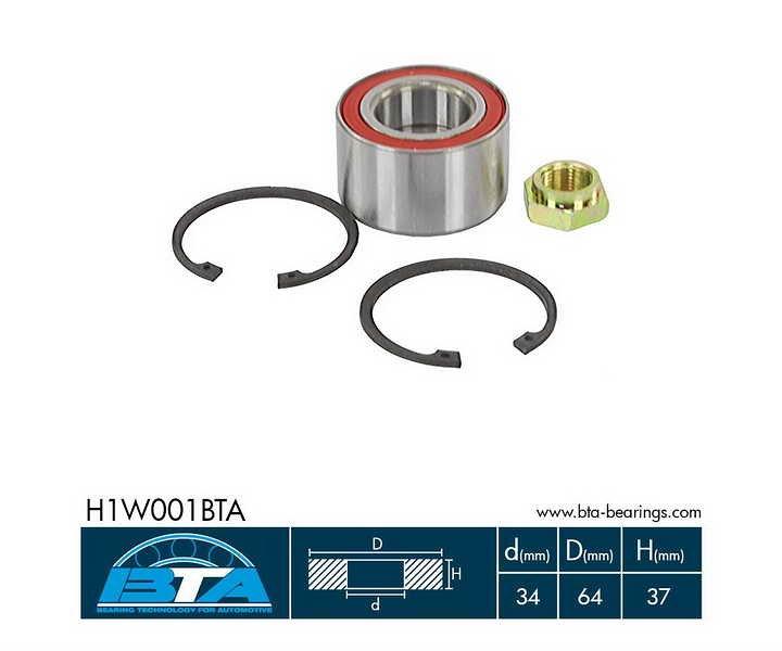 Zestaw łożyska koła BTA H1W001BTA - darmowa dostawa do 5000 warsztatów Motointegrator Partner i 170 sklepów Inter Cars