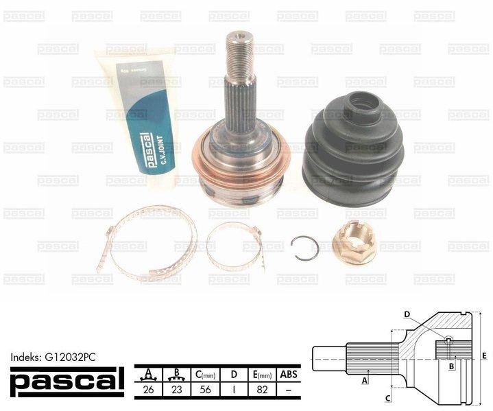 Przegub napędowy zewnętrzny PASCAL G12032PC - darmowa dostawa do 5000 warsztatów Motointegrator Partner i 170 sklepów Inter Cars