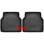 Uniwersalne dywaniki gumowe czarny POLGUM PG320C