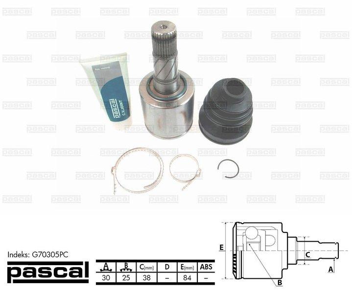 Przegub napędowy wewnętrzny PASCAL G70305PC - darmowa dostawa do 5000 warsztatów Motointegrator Partner i 170 sklepów Inter Cars