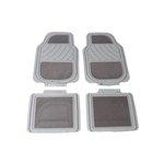 Uniwersalne przód:66x45, tył:35,5x45 dywaniki gumowo-welurowe szary POLGUM PGTS3328PS