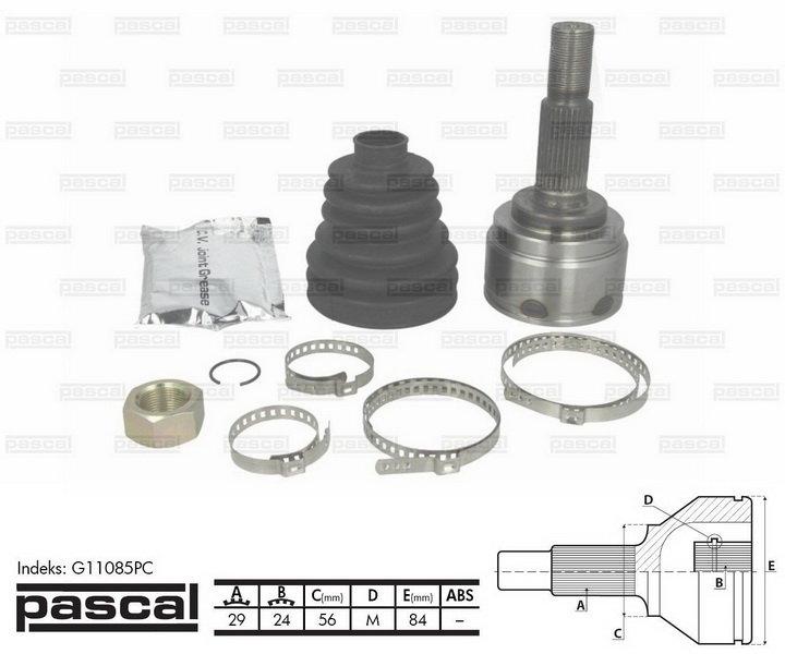 Przegub napędowy zewnętrzny PASCAL G11085PC - darmowa dostawa do 5000 warsztatów Motointegrator Partner i 170 sklepów Inter Cars
