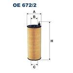 Filtr oleju FILTRON OE672/2