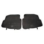 VW Polo 01-, SKODA Roomster/ Fabia do 07, SEAT Ibiza/Cordoba 02- dywaniki gumowe czarny POLGUM PGP01