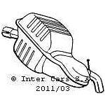 Tłumik układu wydechowego BOSAL 235-145
