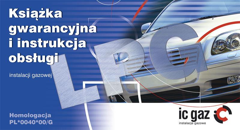 Książka serwisowa z instrukcją obsługi instalacji LPG.