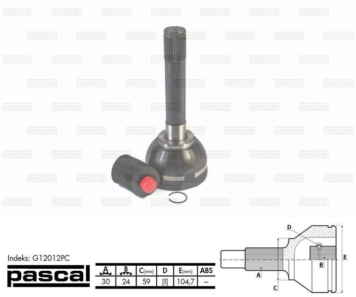 Przegub napędowy zewnętrzny PASCAL G12012PC - darmowa dostawa do 5000 warsztatów Motointegrator Partner i 170 sklepów Inter Cars