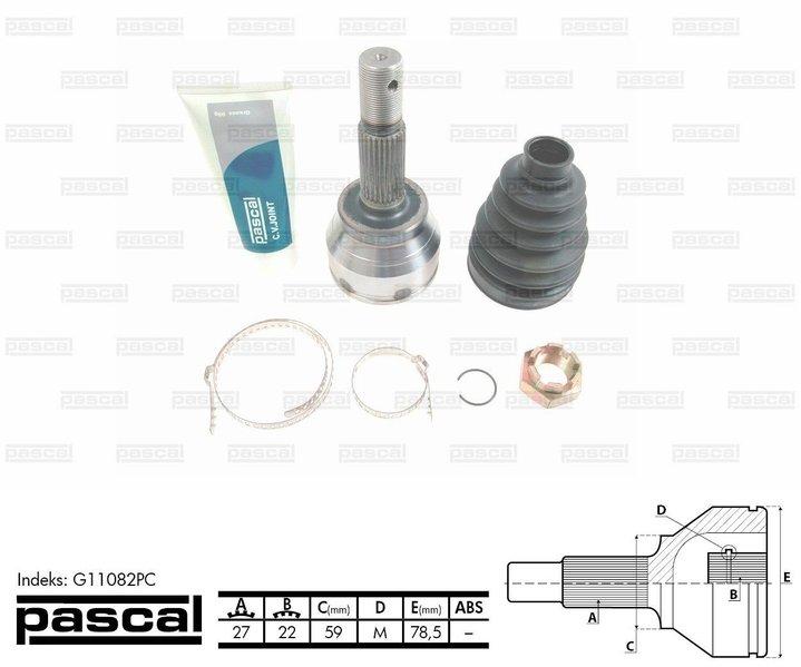 Przegub napędowy zewnętrzny PASCAL G11082PC - darmowa dostawa do 5000 warsztatów Motointegrator Partner i 170 sklepów Inter Cars