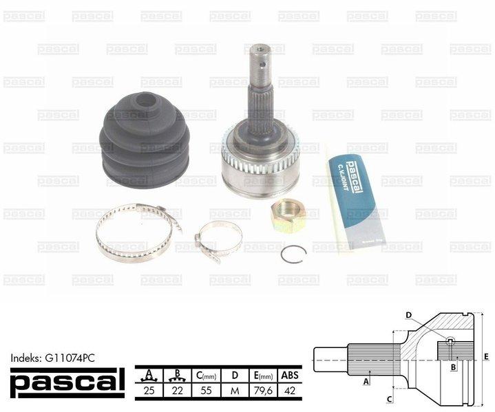 Przegub napędowy zewnętrzny PASCAL G11074PC - darmowa dostawa do 5000 warsztatów Motointegrator Partner i 170 sklepów Inter Cars