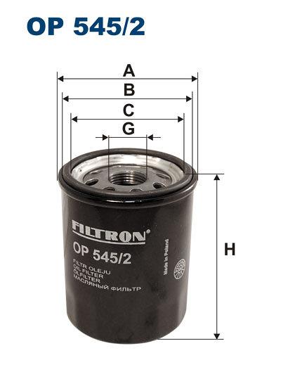 Filtr oleju FILTRON OP545/2 - darmowa dostawa do 5000 warsztatów Motointegrator Partner i 170 sklepów Inter Cars