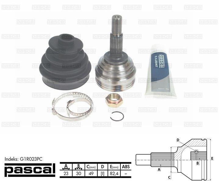 Przegub napędowy zewnętrzny PASCAL G1R023PC - darmowa dostawa do 5000 warsztatów Motointegrator Partner i 170 sklepów Inter Cars