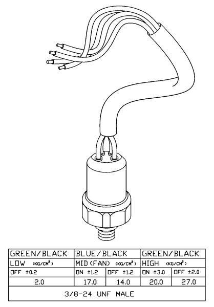 Włącznik ciśnieniowy klimatyzacji NRF 38918 - darmowa dostawa do 5000 warsztatów Motointegrator Partner i 170 sklepów Inter Cars