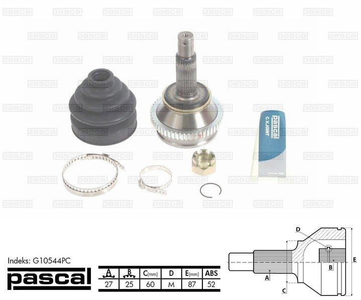 Przegub napędowy zewnętrzny PASCAL G10544PC - darmowa dostawa do 5000 warsztatów Motointegrator Partner i 170 sklepów Inter Cars