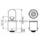Żarówka (pomocnicza) T4W BOSCH Trucklight Heavy Duty - karton 1 szt., cokołowa