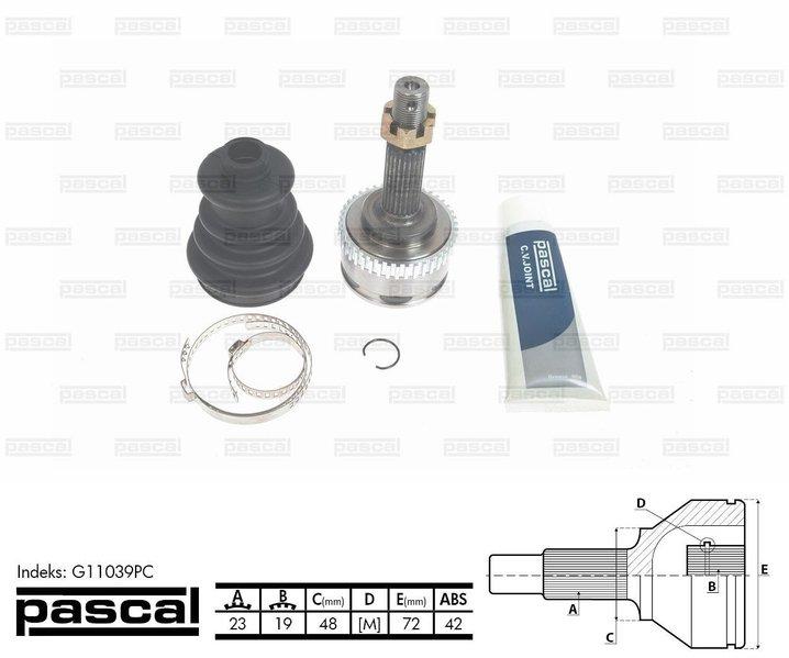 Przegub napędowy zewnętrzny PASCAL G11039PC - darmowa dostawa do 5000 warsztatów Motointegrator Partner i 170 sklepów Inter Cars