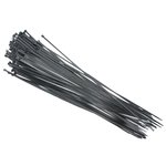 Opaska plastikowa 810/9 czarna, 100 sztuk