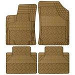 Dywaniki gumowe uniwersalne beżowe REZAW-PLAST przód:73,5x54,5 i 75,5x54; tył:45x50cm