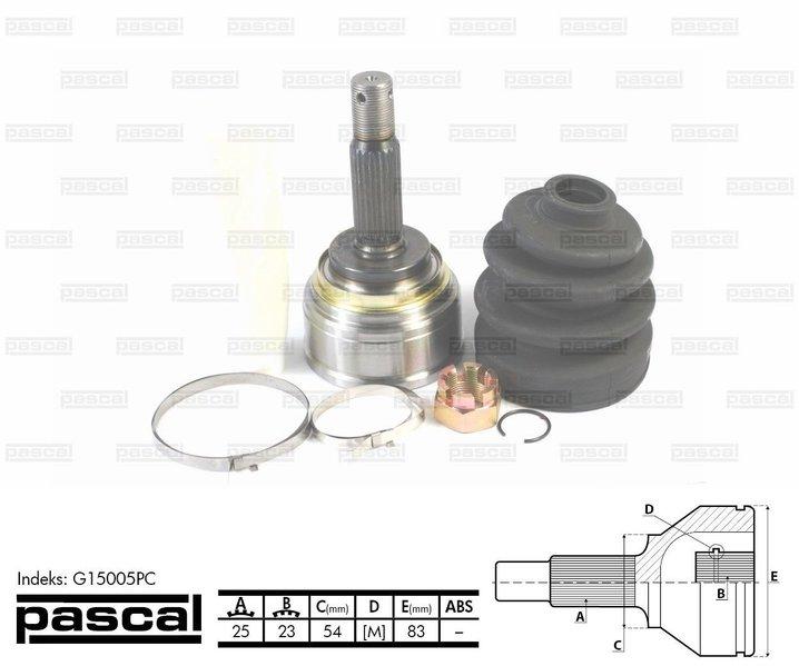 Przegub napędowy zewnętrzny PASCAL G15005PC - darmowa dostawa do 5000 warsztatów Motointegrator Partner i 170 sklepów Inter Cars
