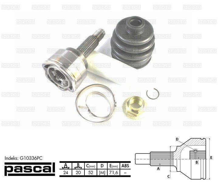 Przegub napędowy zewnętrzny PASCAL G10336PC - darmowa dostawa do 5000 warsztatów Motointegrator Partner i 170 sklepów Inter Cars