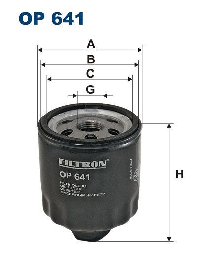 Filtr oleju FILTRON OP641 - darmowa dostawa do 5000 warsztatów Motointegrator Partner i 170 sklepów Inter Cars