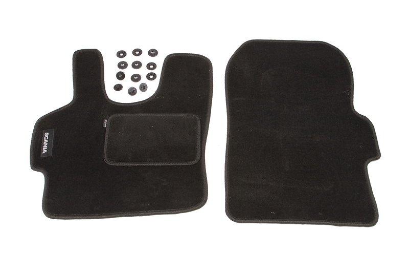 SCANIA SERIA IV (kierowca + pasażer) 1995-2004  dywaniki welurowe czarny MAMMOOTH MMT A041 833704 01