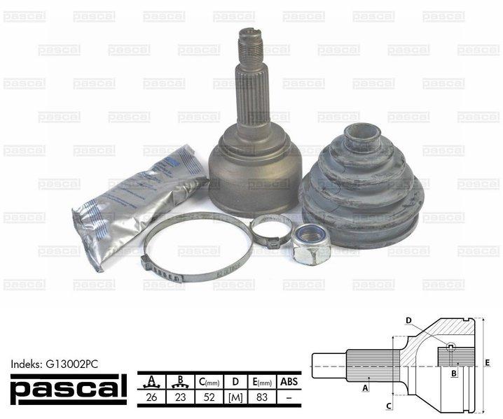 Przegub napędowy zewnętrzny PASCAL G13002PC - darmowa dostawa do 5000 warsztatów Motointegrator Partner i 170 sklepów Inter Cars