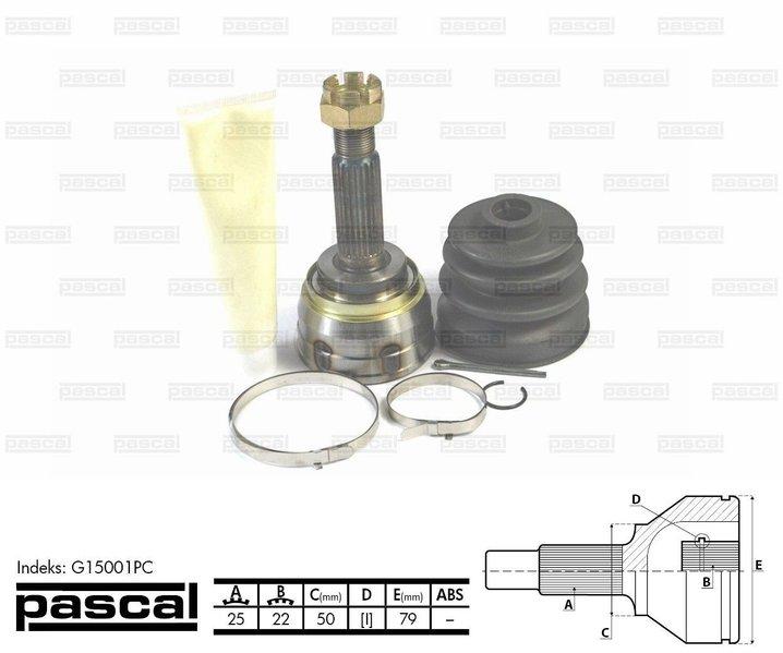 Przegub napędowy zewnętrzny PASCAL G15001PC - darmowa dostawa do 5000 warsztatów Motointegrator Partner i 170 sklepów Inter Cars