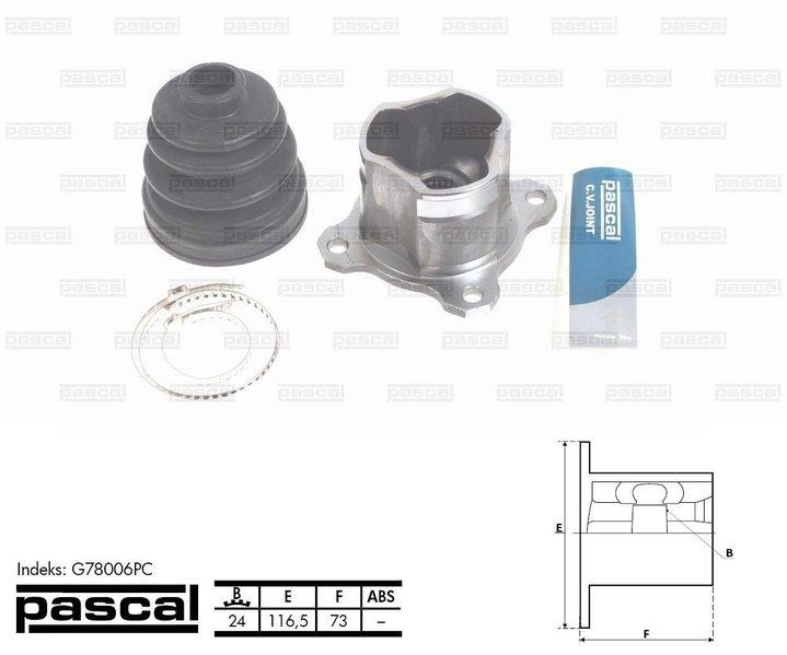 Przegub napędowy wewnętrzny PASCAL G78006PC - darmowa dostawa do 5000 warsztatów Motointegrator Partner i 170 sklepów Inter Cars