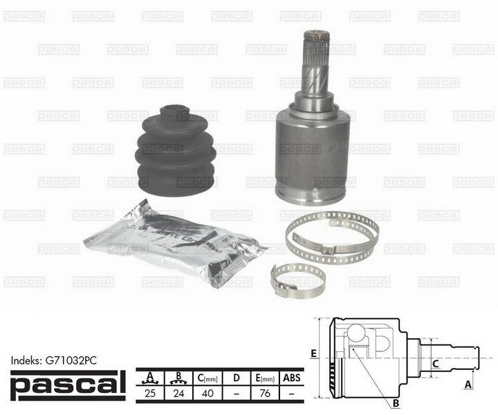 Przegub napędowy wewnętrzny PASCAL G71032PC - darmowa dostawa do 5000 warsztatów Motointegrator Partner i 170 sklepów Inter Cars